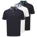 9903 FootJoy Strectch Pique With Woven Button DownCollar